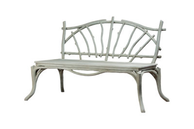 Early Faux Bois Concrete Bench