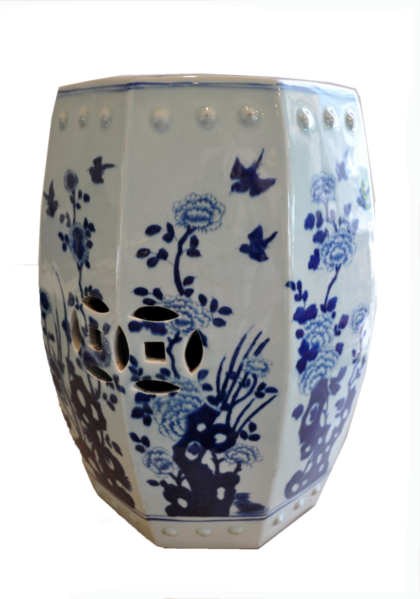 Blue And White Chinese Garden Stool Mecox Gardens