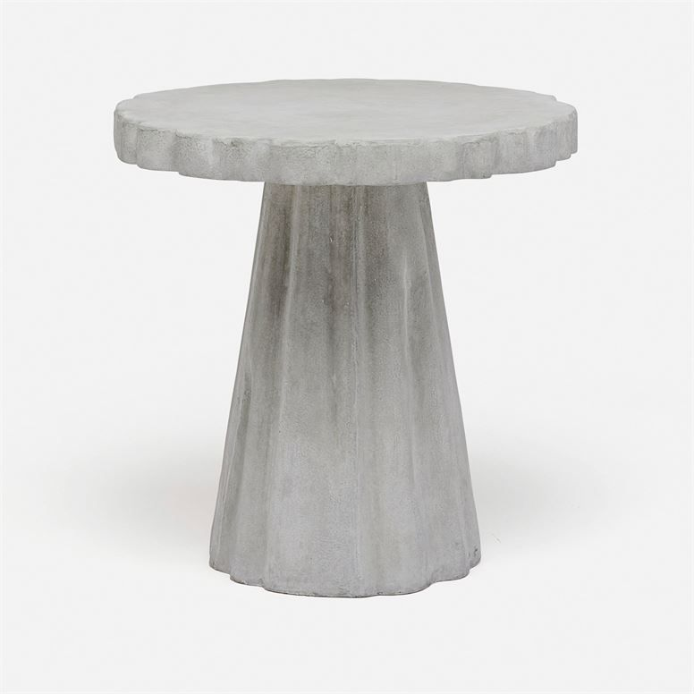 Scalloped Concrete Side Table Mecox Gardens