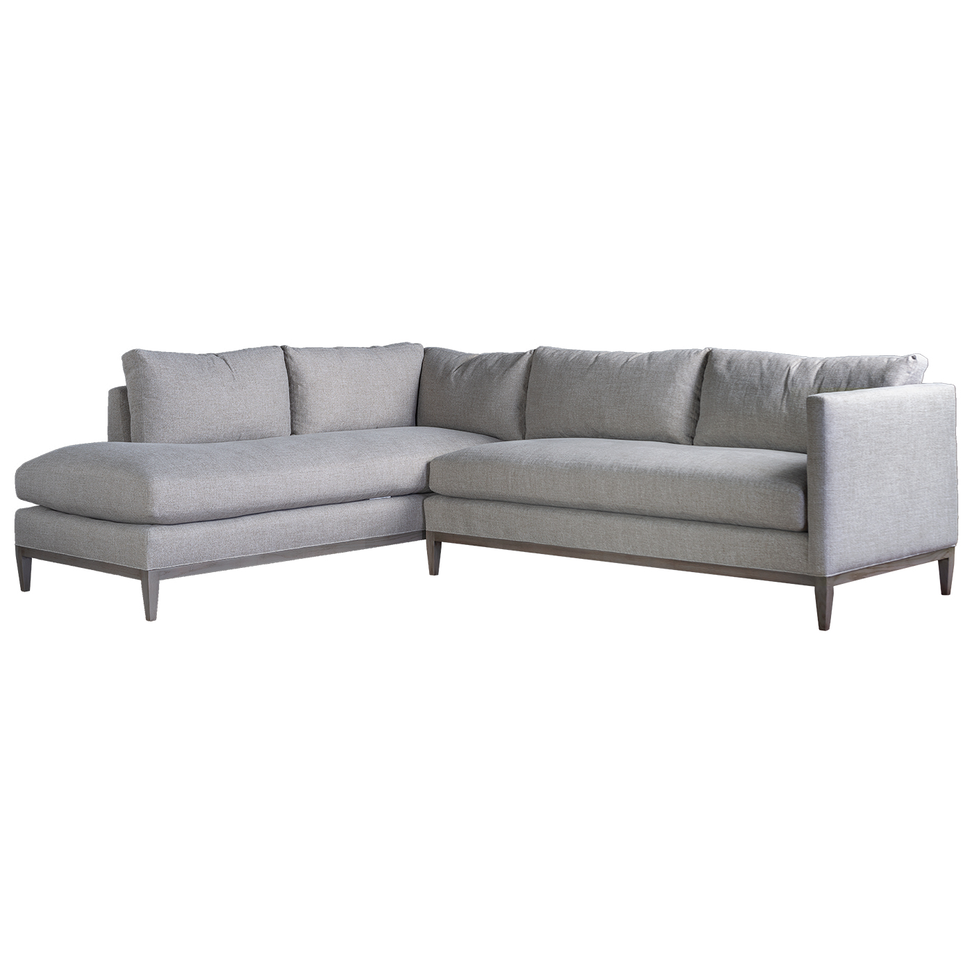 Strange Holloway Sectional Sofa In Crypton Slate Fabric Mecox Gardens Andrewgaddart Wooden Chair Designs For Living Room Andrewgaddartcom