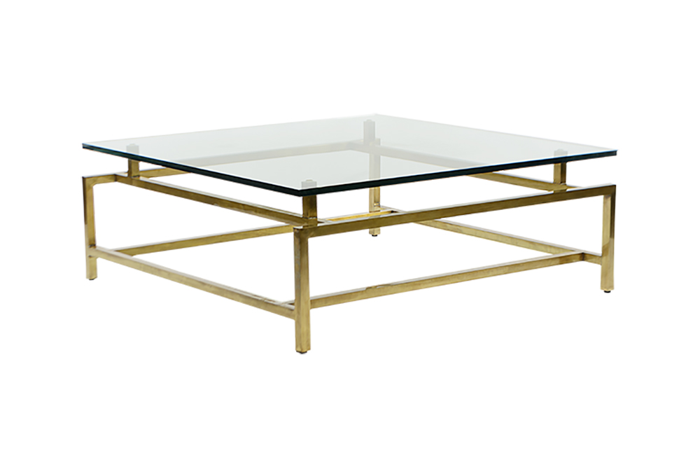 Madison Brass And Glass Coffee Table
