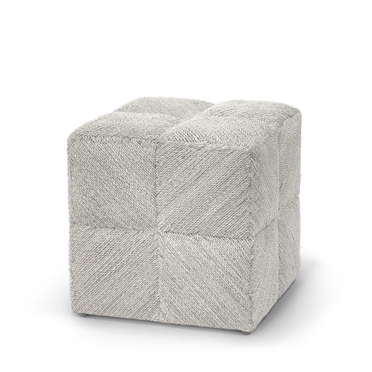 Magnificent White Washed Rope Cube Ottoman Mecox Gardens Creativecarmelina Interior Chair Design Creativecarmelinacom