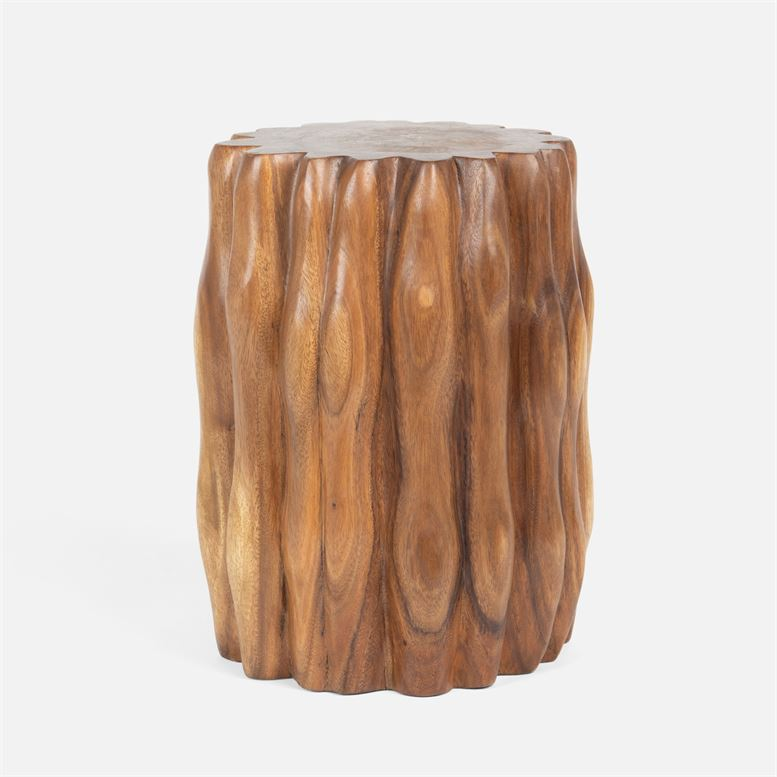 Admirable Ridged Wood Stool Mecox Gardens Pdpeps Interior Chair Design Pdpepsorg