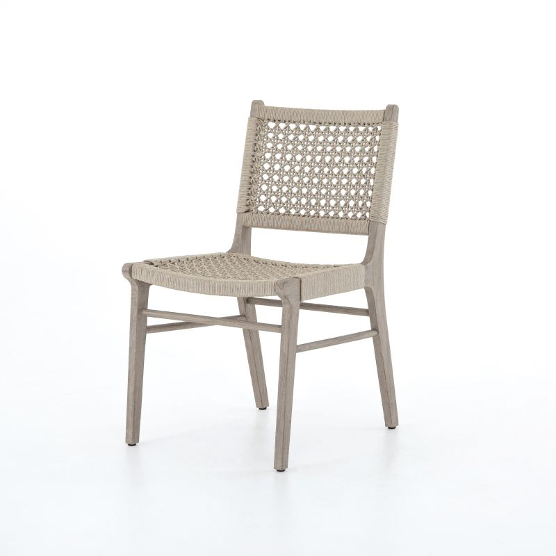 Outdoor Teak And Rope Dining Chair Mecox Gardens