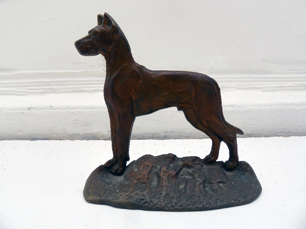 Vintage Great Dane Metal Door Stop Mecox Gardens
