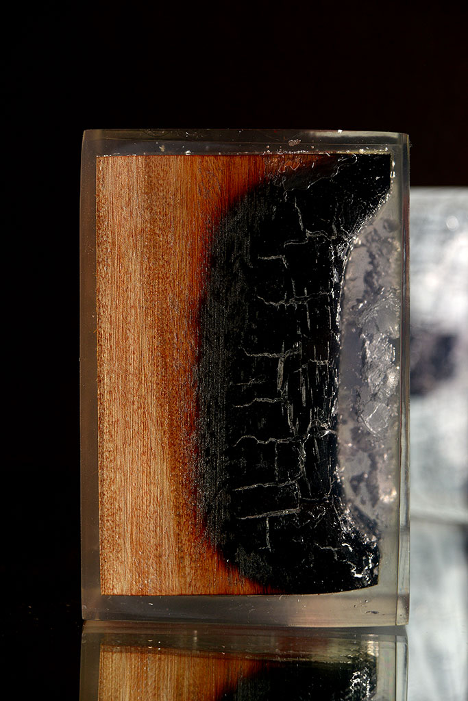 Burnt Wood And Resin Bookends Mecox Gardens