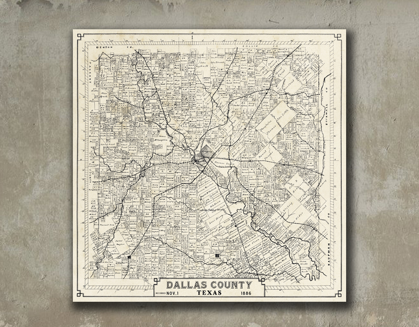Dallas Property Owners Map Wall Art Mecox Gardens