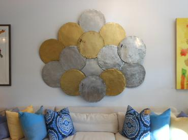 Gold Disc Wall Decor