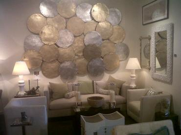 Beautiful Gold Disc Wall Decor