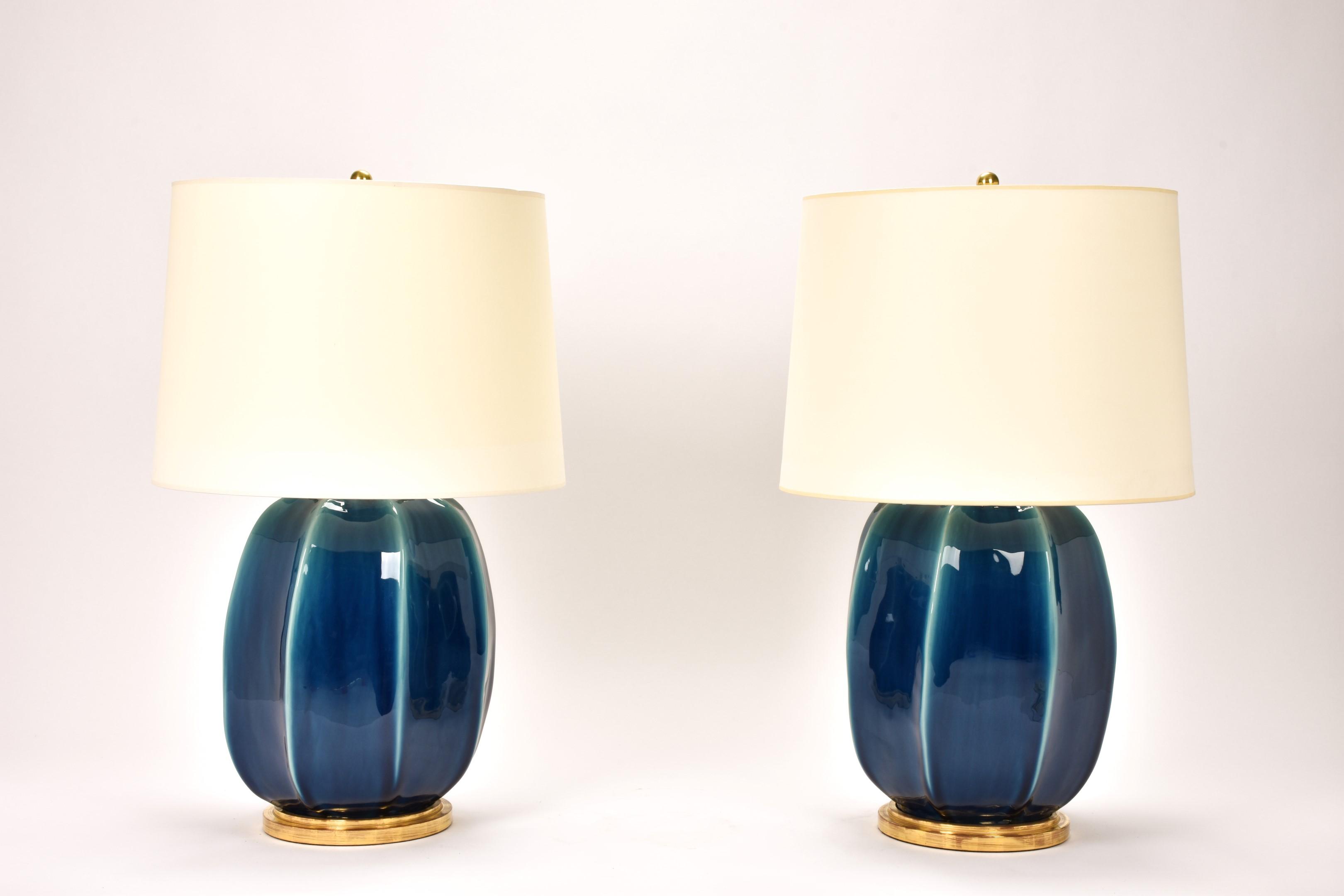 Christopher Spitzmiller Sarah Prussian Blue Lamp Mecox