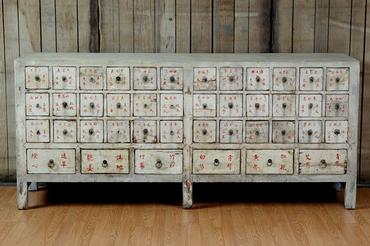 Etonnant Antique Chinese Medicine Cabinet
