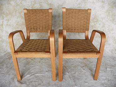 Marvelous Pair Of Vintage Woven Rope Chairs