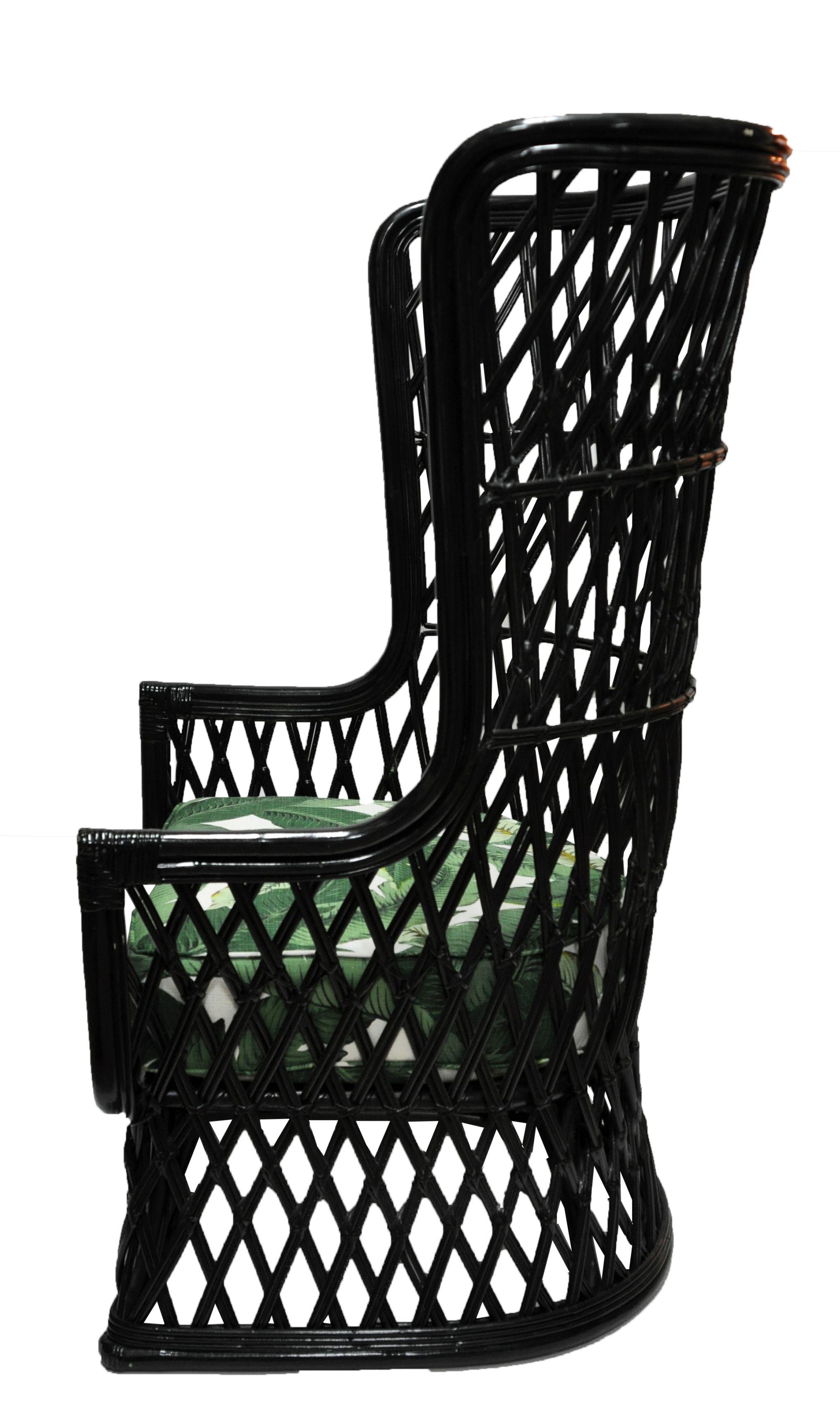 Vintage Rattan High Back Chair