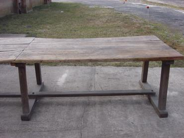 Antique chestnut dining table mecox gardens antique chestnut dining table watchthetrailerfo