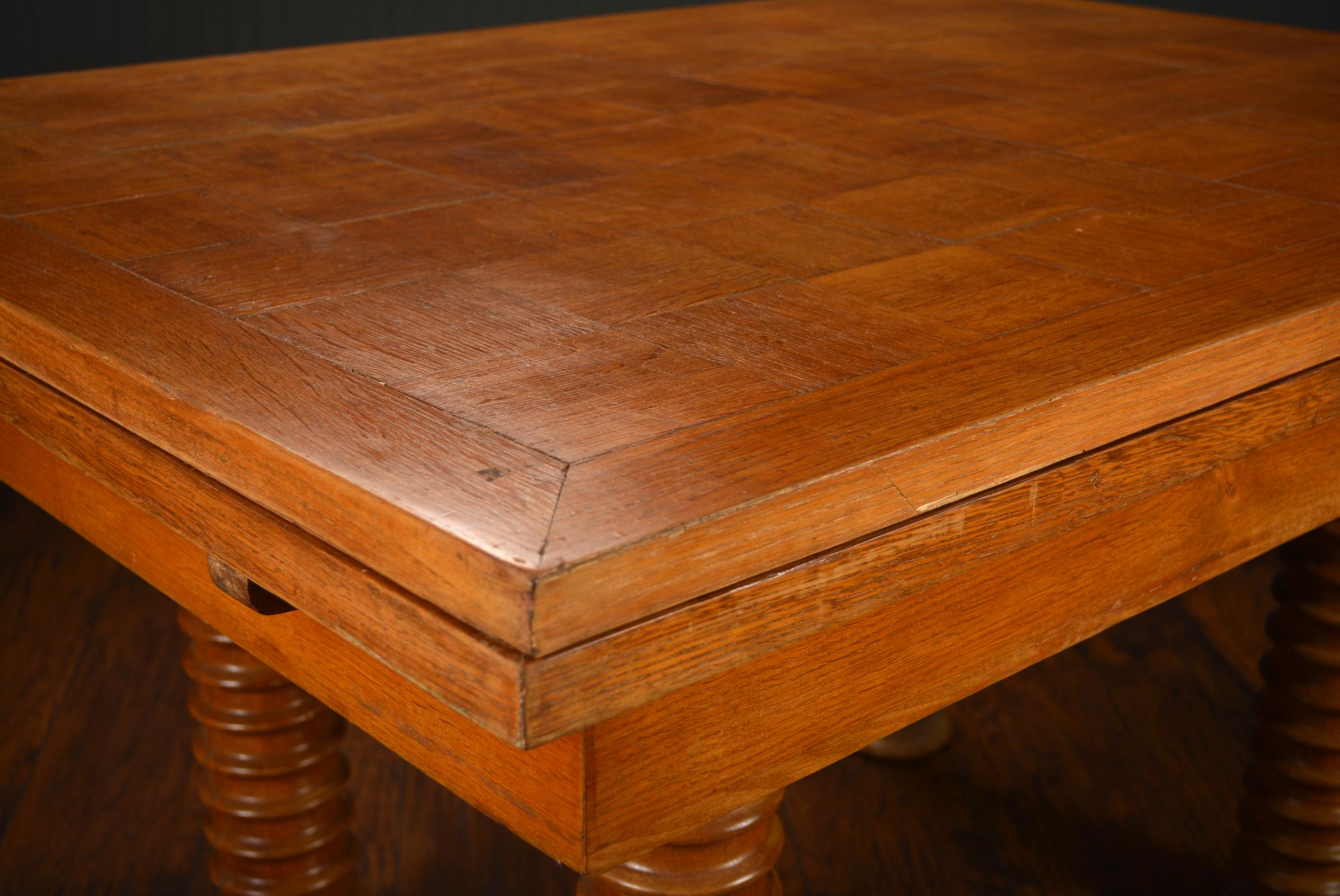 Vintage Mid Century French Oak Dining Table Mecox Gardens
