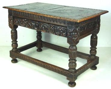 Antique Carved German Hall Table
