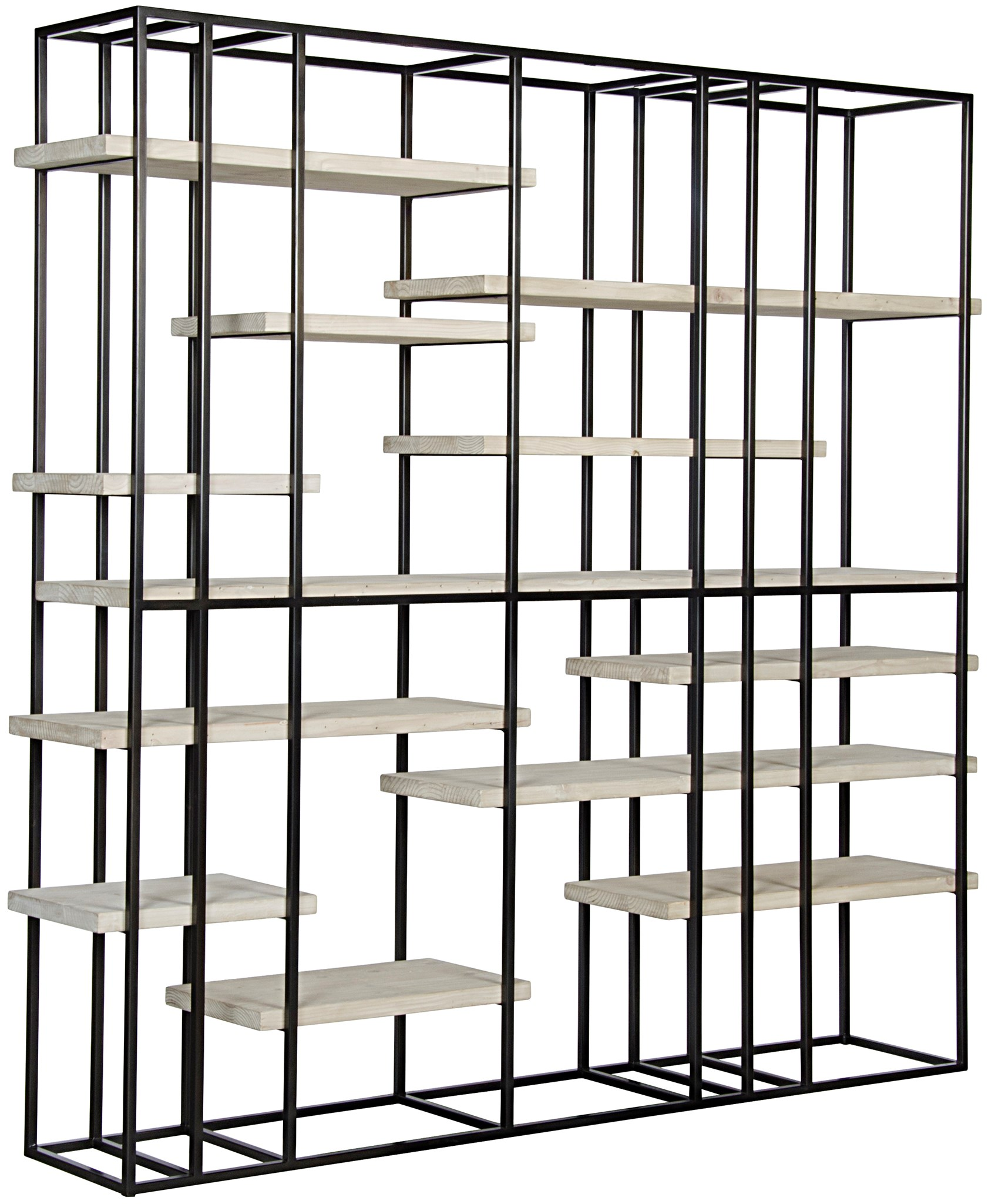 shelf new bookcase steel shelves p combination book wood bookshelf