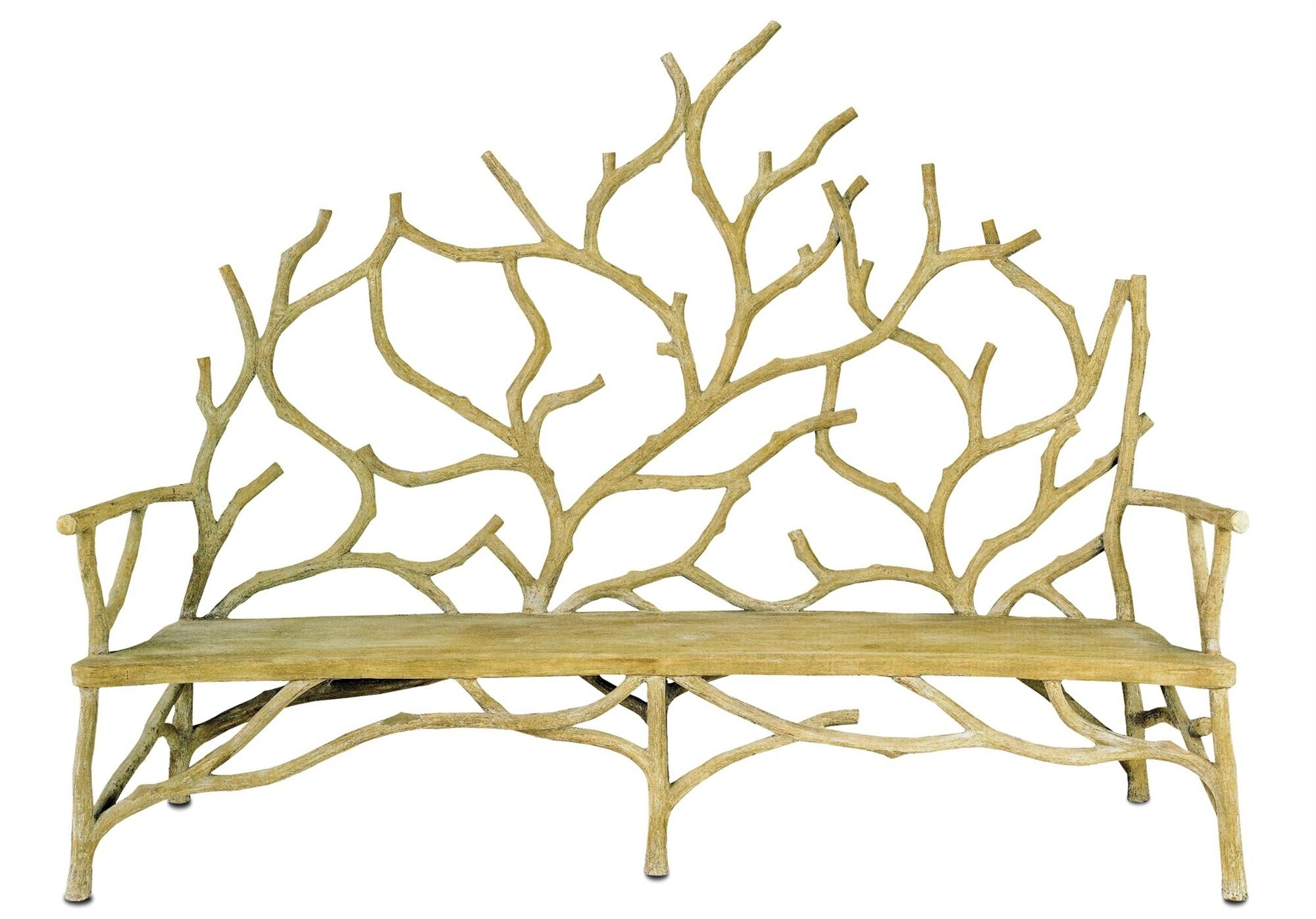 Branch Faux Bois Concrete Bench