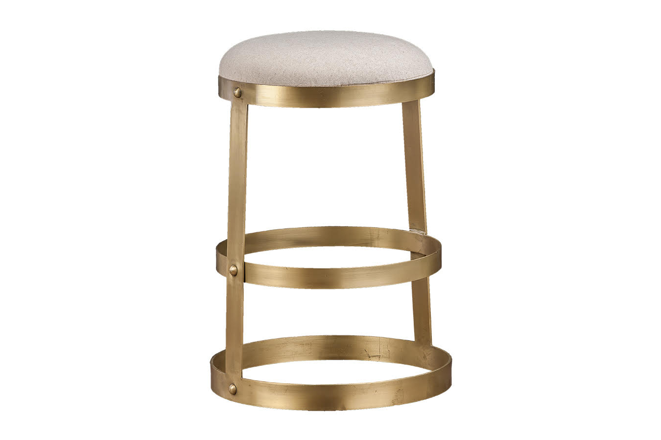 Magnificent Laurent Round Brass Counter Stool Mecox Gardens Bralicious Painted Fabric Chair Ideas Braliciousco