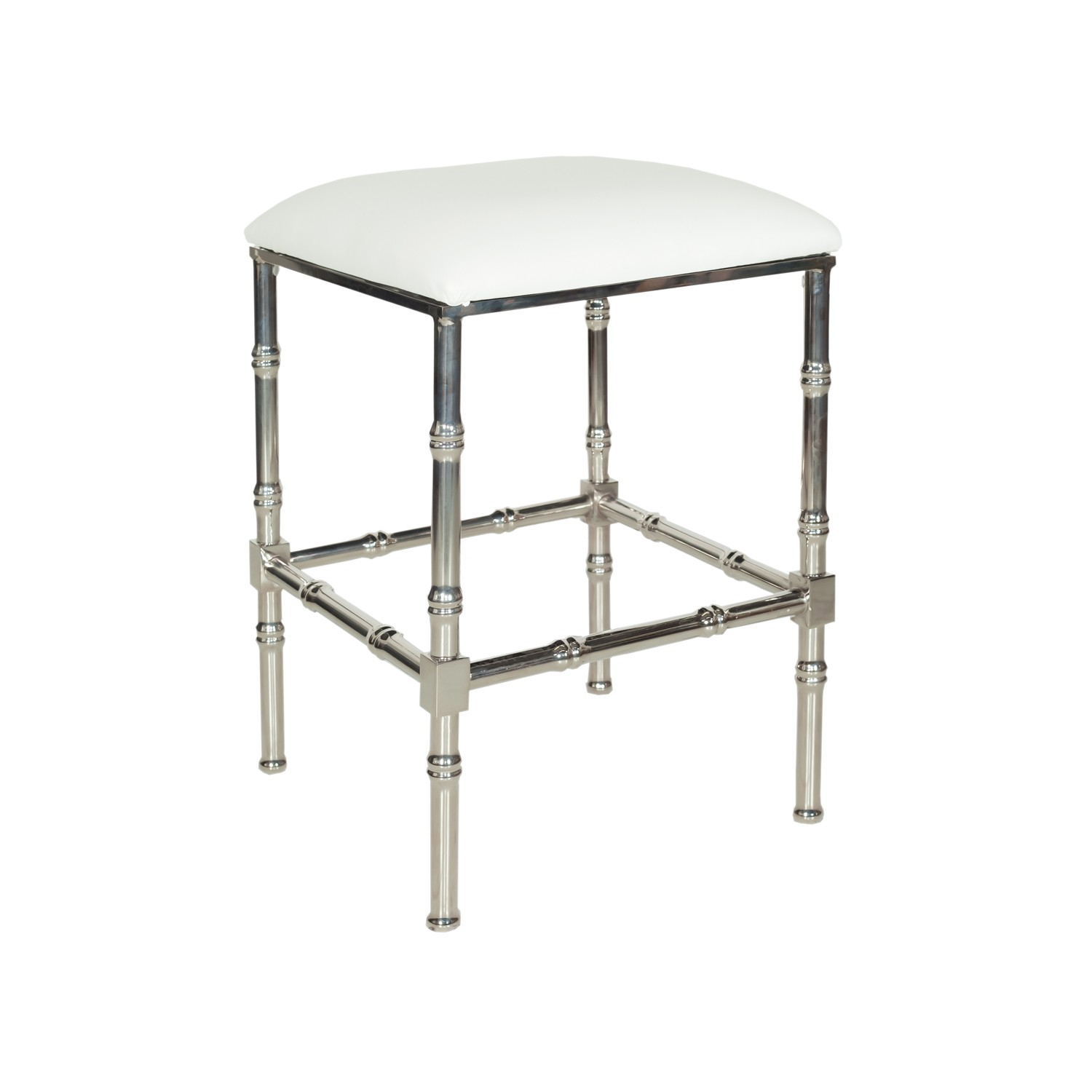 Metal Faux Bamboo Counter Stool - Mecox Gardens