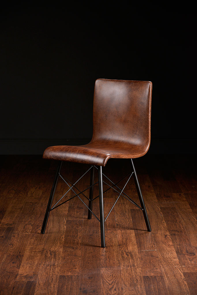 Merveilleux Modern Gibbings Leather Side Chair