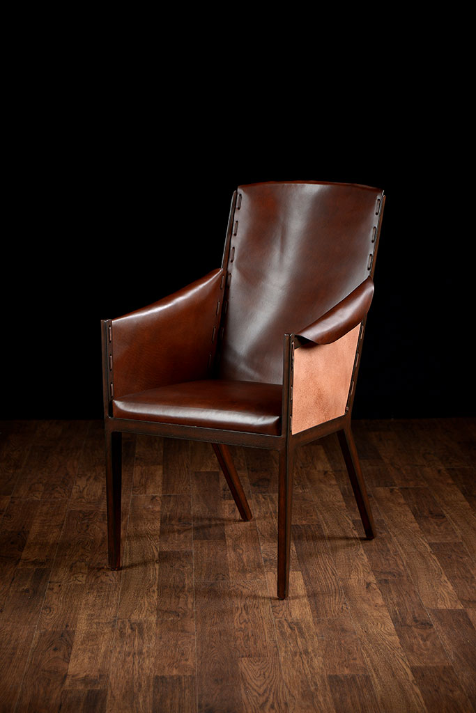 Rustic Leather Arm Chair