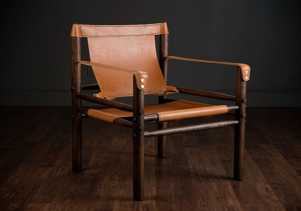 Bon Durango Wood And Leather Chair
