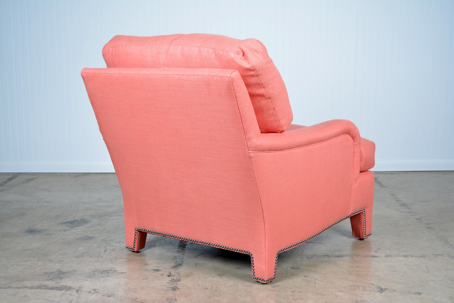Marvelous Rolled Arm Coral Upholstered Chair