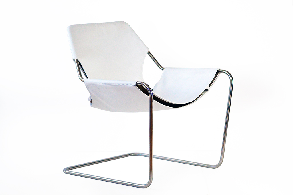 Exceptionnel Stainless Steel Leather Sling Chair