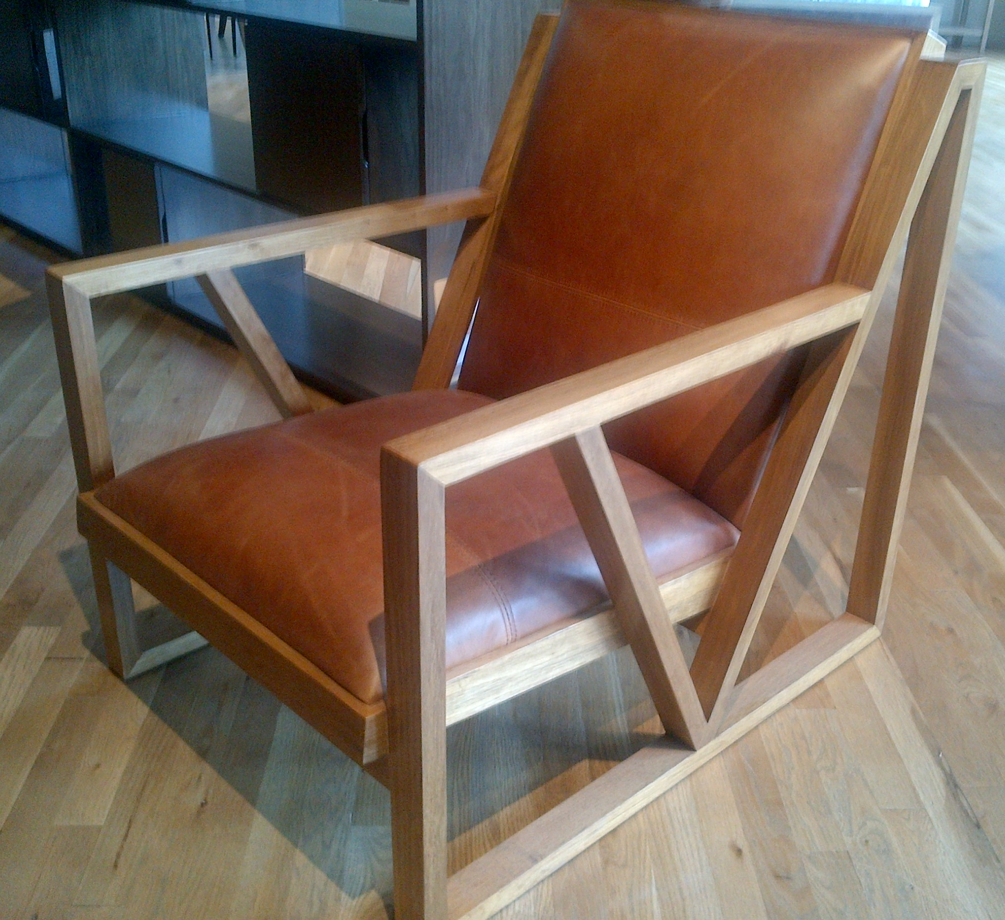 mid century modern leather lounge chair mecox gardens