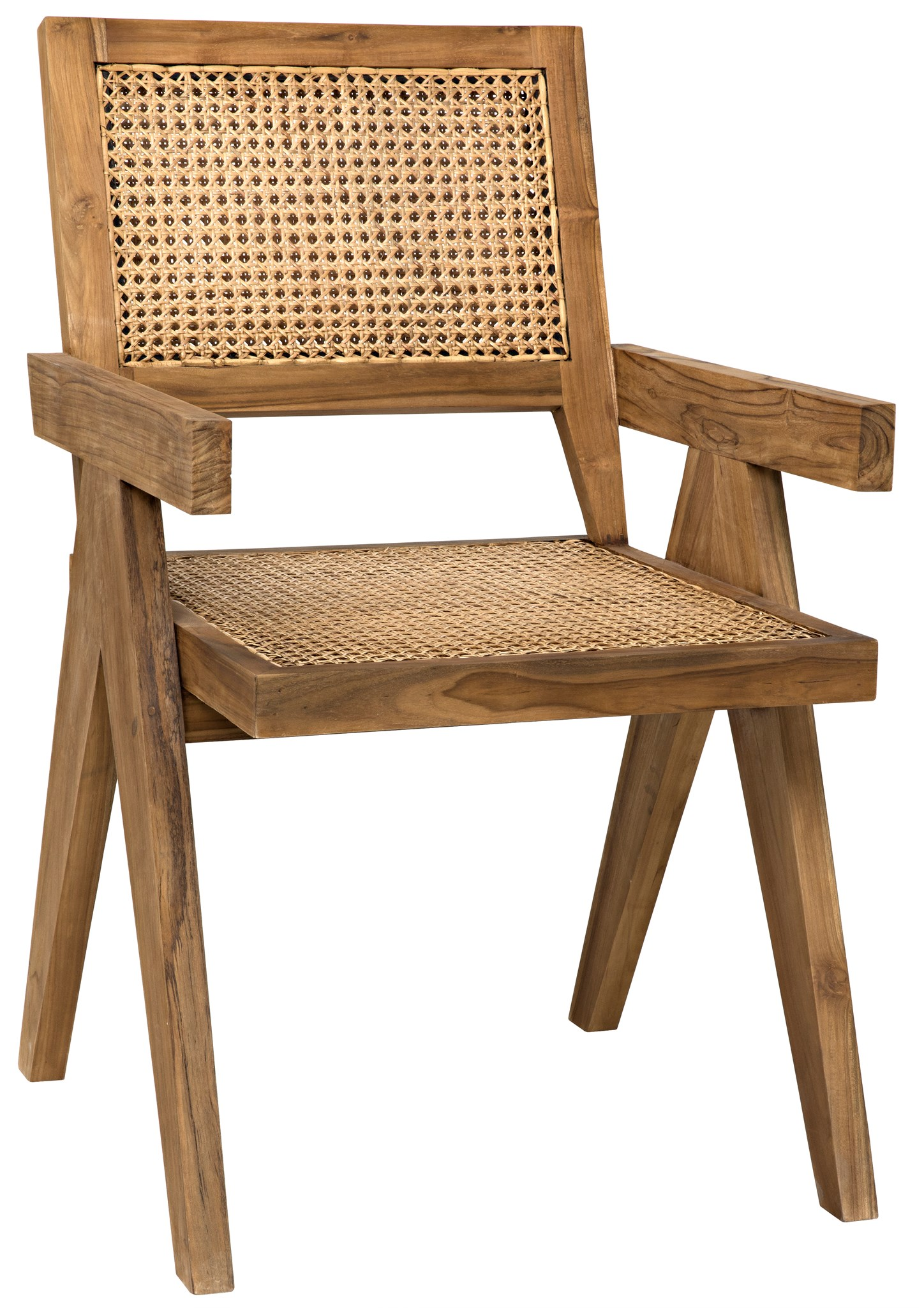 Jake Teak And Cane Arm Chair Mecox Gardens
