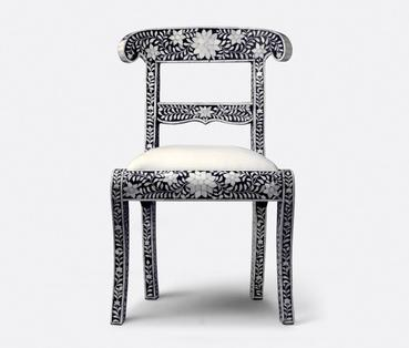 Rajasthan Chair Of Bone Inlay