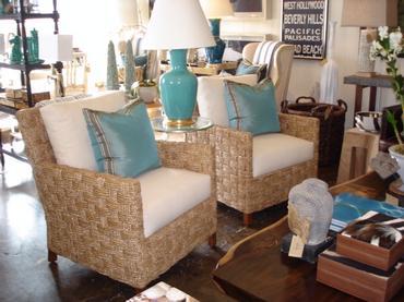 mediterranean seagrass chair mecox gardens