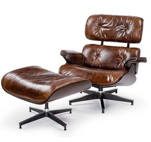 Terrific Grimes Leather Chair And Ottoman Set Mecox Gardens Gmtry Best Dining Table And Chair Ideas Images Gmtryco