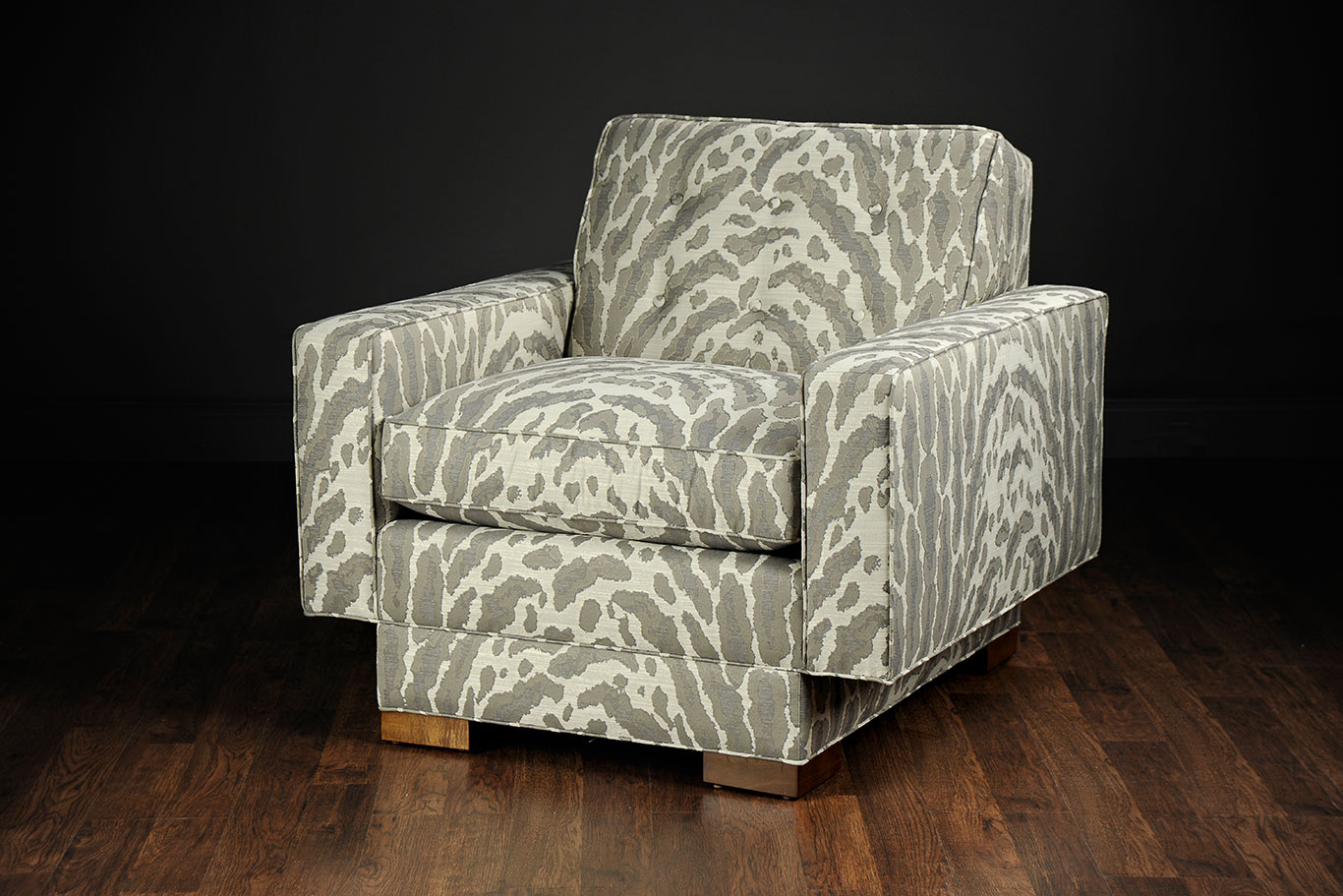 Beautiful Marisa Mid Century Modern Patterned Club Chair