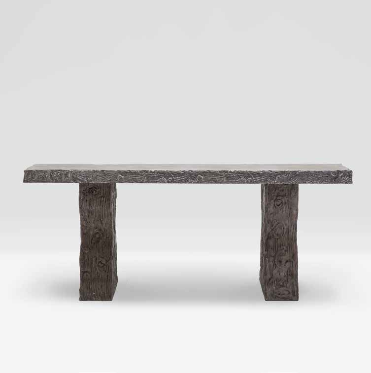 Outdoor Faux Bois Concrete Console