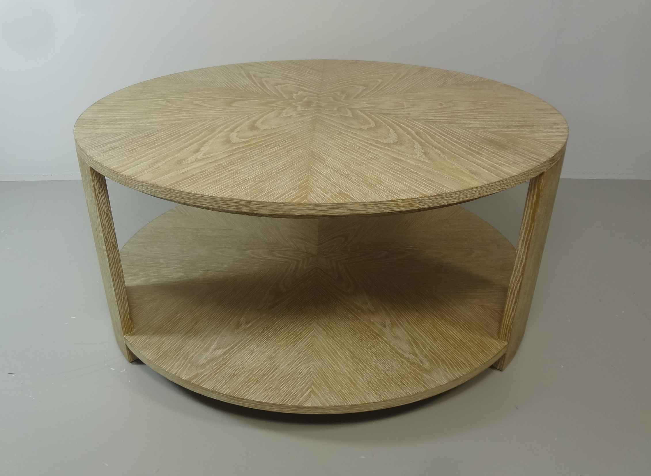Tribeca Two Tier Bleached Oak Coffee Table