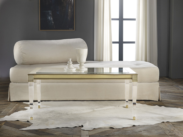 Salma Acrylic And Brass Coffee Table