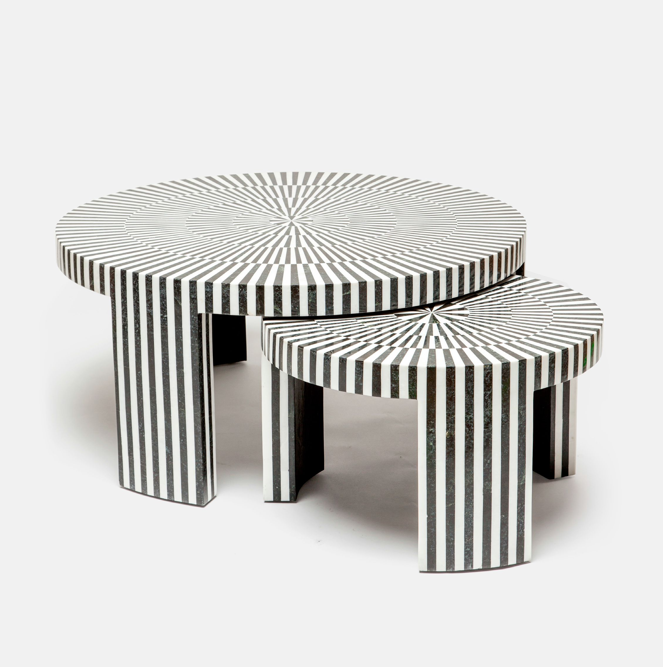 Marble Striped Nesting Coffee Table Sets Mecox Gardens