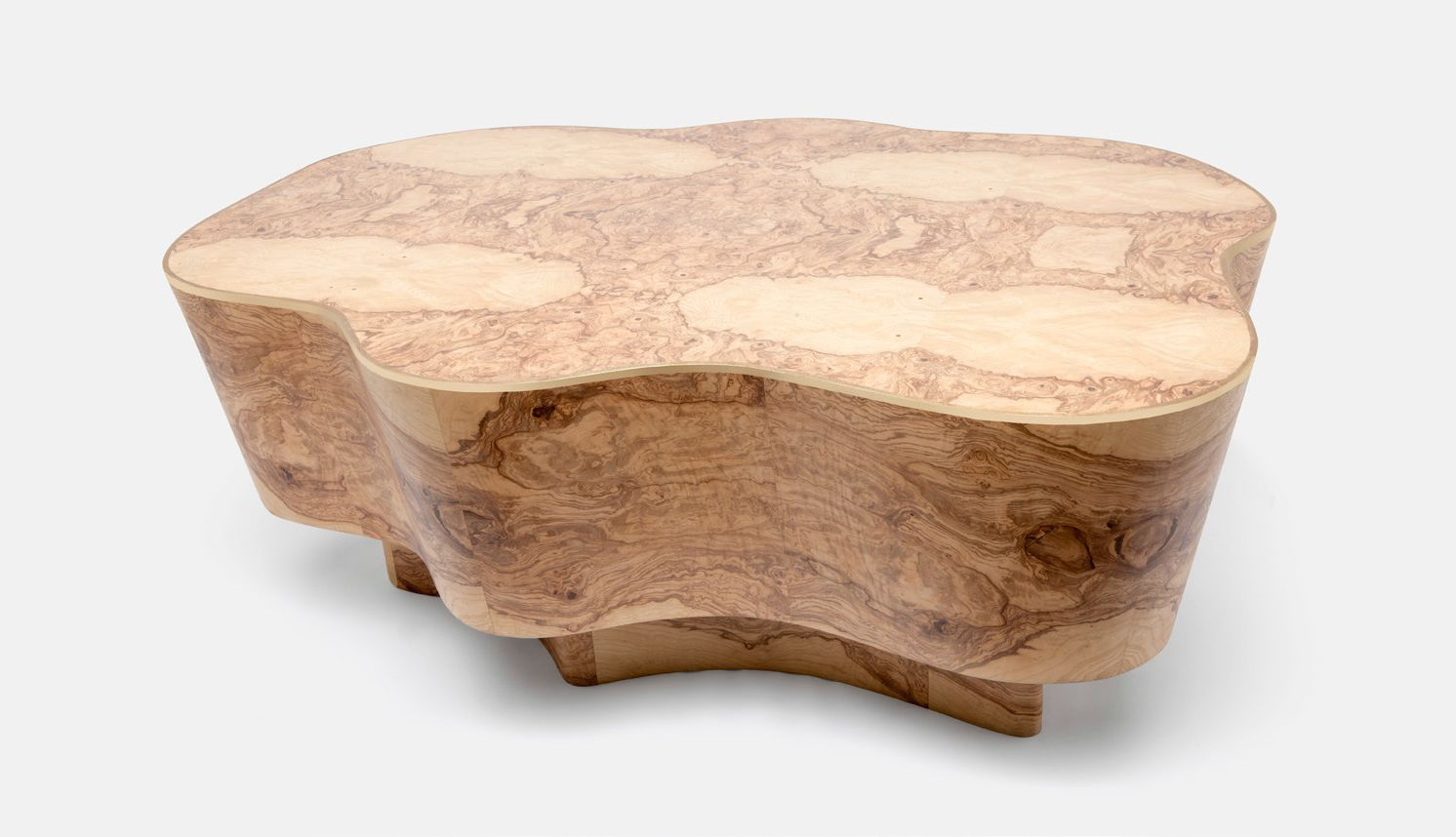 Query Abstract Burlwood Coffee Table Mecox Gardens