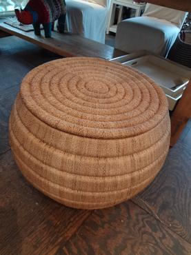 Beau Woven Abaca Small Coffee Table
