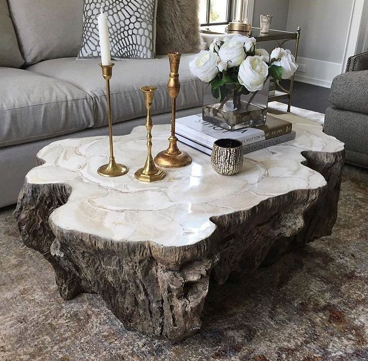 Trunk Shaped Clam Shell Coffee Table Mecox Gardens