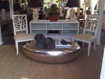 Hudson Silver Leaf Coffee Table
