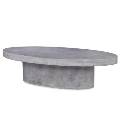 Moritz Oval Concrete Coffee Table Mecox Gardens - Oval concrete coffee table