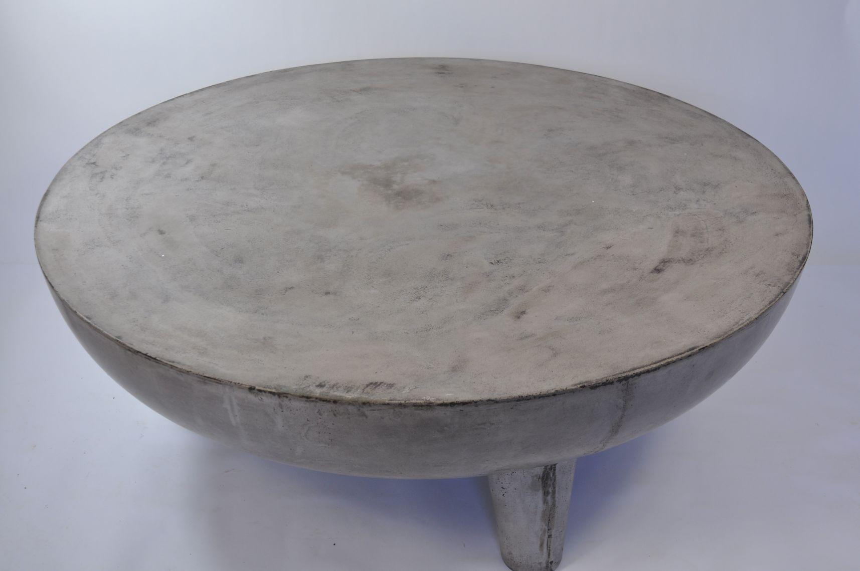 Greer Light Concrete Coffee Table Mecox Gardens [ 1139 x 1715 Pixel ]