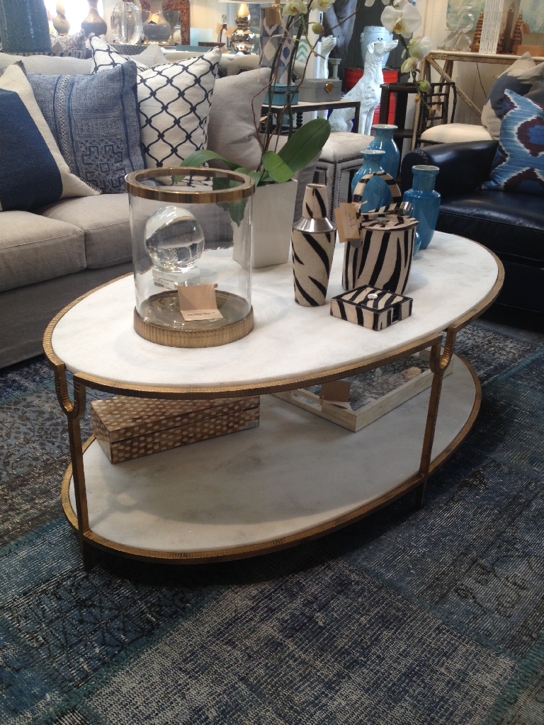 TwoTier Oval Coffee Table Mecox Gardens - Two level coffee table