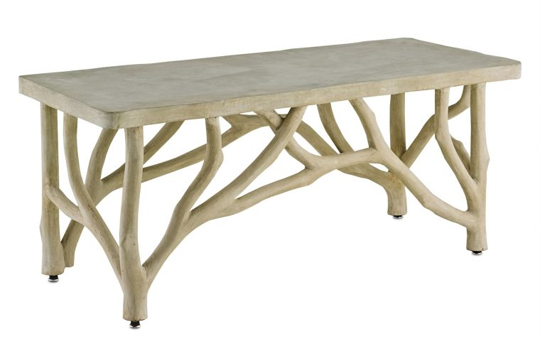 Ordinaire Bayou Faux Bois Concrete Branch Coffee Table