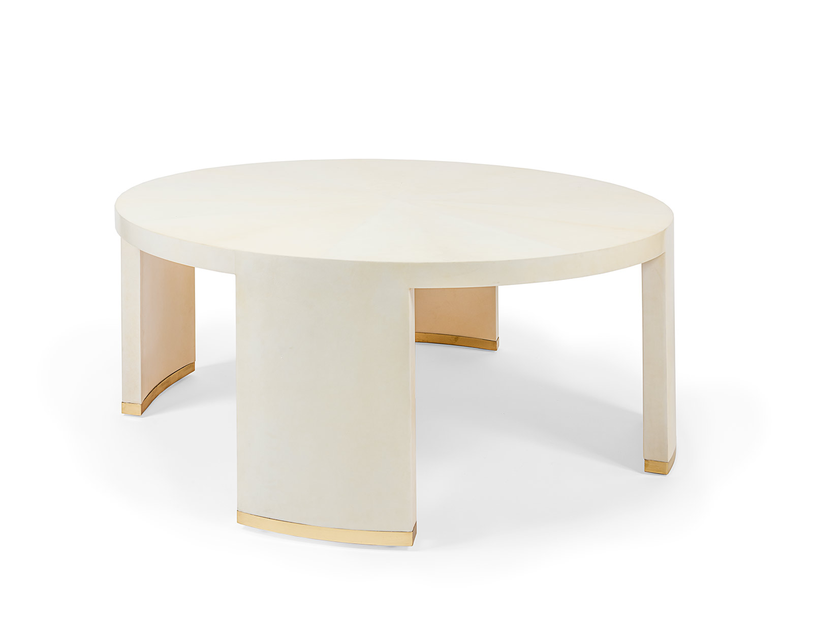 Round Parchment Coffee Table Mecox Gardens