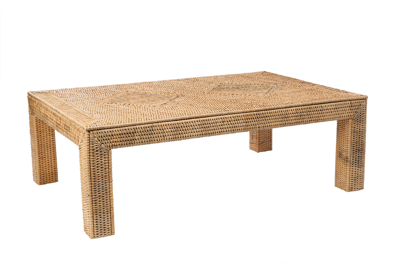 - Cooper Woven Coffee Table - Mecox Gardens