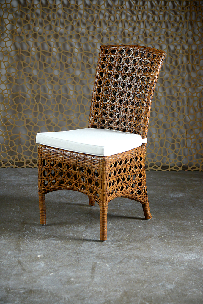Indies Woven Rattan Dining Side Chair